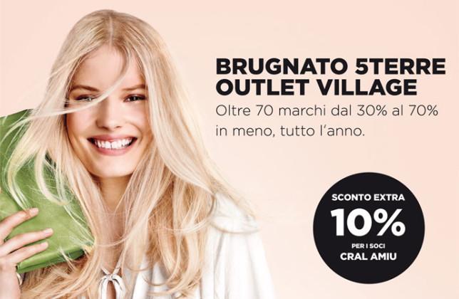Nuova convenzione: Brugnato 5Terre Outlet Village – Cral Amiu Genova