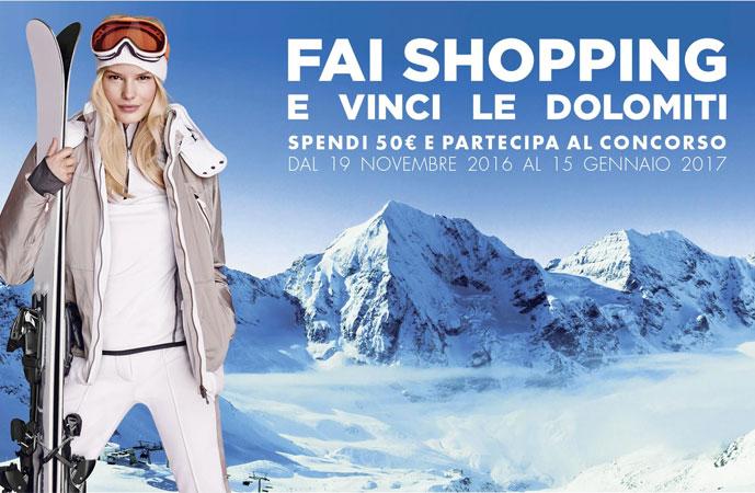 Vinci le Dolomiti con lo shopping di Natale a Brugnato Outlet Village