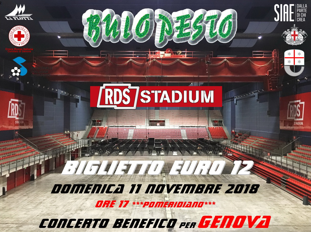 I Buio Pesto all'RDS Stadium domenica 11 novembre alle 17