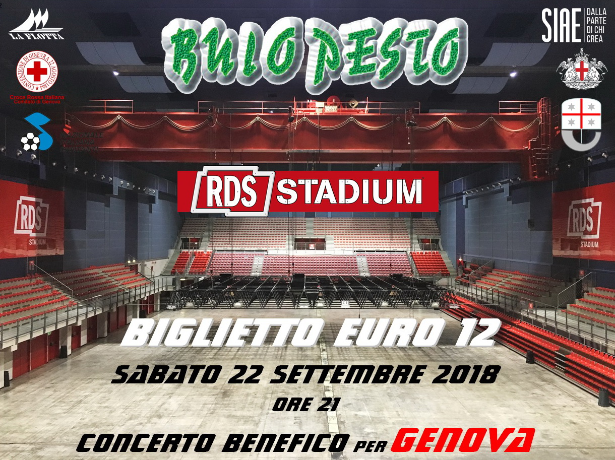 """Buio Pesto per Genova"" all'RDS Stadium"